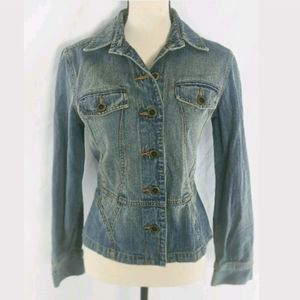 The Limited Fitted Denim Jacket, Stonewash, S